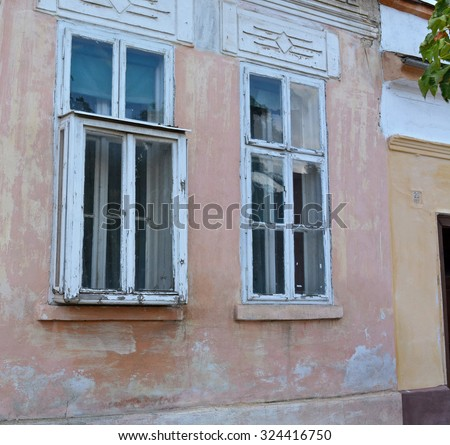Protruding windows stock photos images pictures shutterstock - The house with protruding windows ...