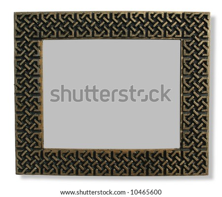Antique rectangular photoframe - stock photo