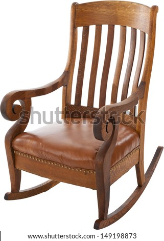 Antique Rocking Chair isolated on white background