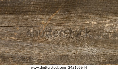 Antique, rough-sawed lumber from an old barn... a.k.a. barnwood. - stock photo