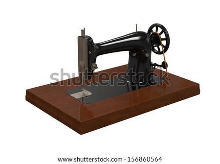 Antique Sewing Machine - stock photo