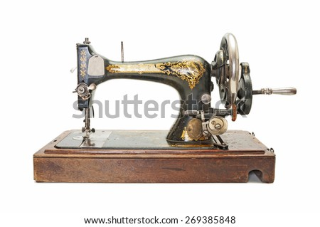 Antique sewing-machine  - stock photo