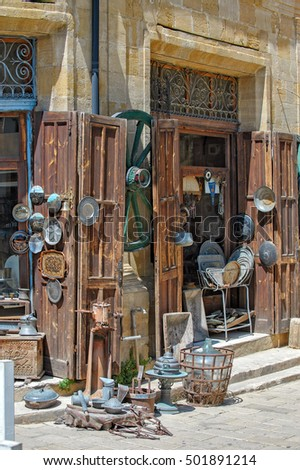 Antique shop in turkish part of Nicosia, North Cyprus