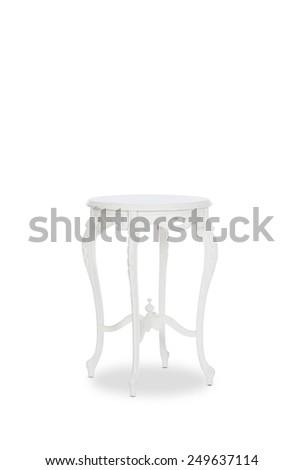 Antique Side Table - stock photo