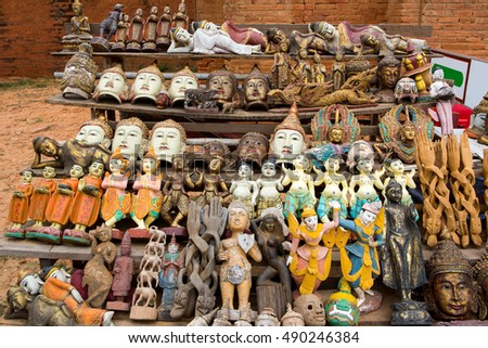Antique Souvenir for Sale in Mandalay, Myanmar