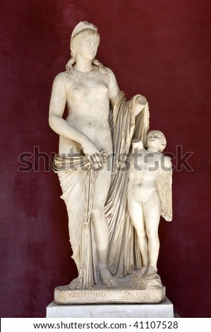 Antique statue of goddess Venus in Vatican