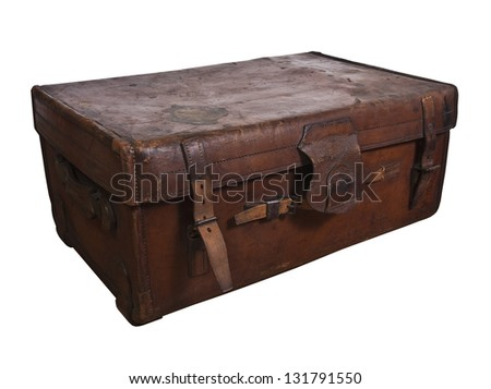 Antique steamer trunk.