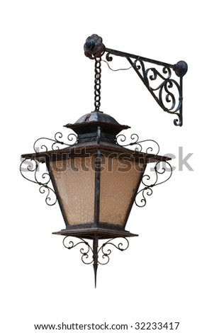 Antique street lantern isolated on white background  sc 1 st  Shutterstock & Hand Draw Antique Street Lamp Vintage Stock Vector 322322174 ... azcodes.com