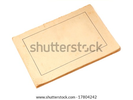 antique text books isolated over white background