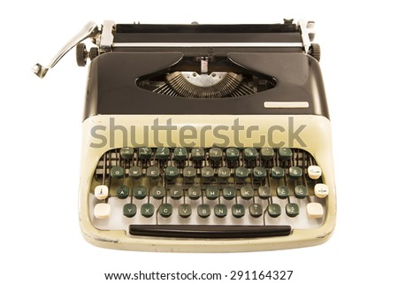 Antique typewriter isolated