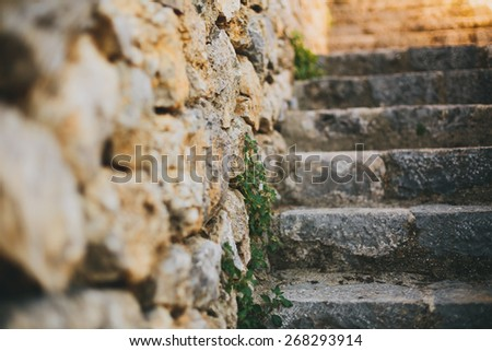 Antique Vintage steps - stock photo