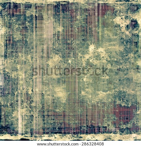 Antique vintage texture, old-fashioned weathered background. With different color patterns: yellow (beige); brown; gray; green - stock photo