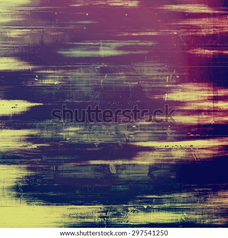 Antique vintage texture, old-fashioned weathered background. With different color patterns: yellow (beige); pink; blue; purple (violet) - stock photo