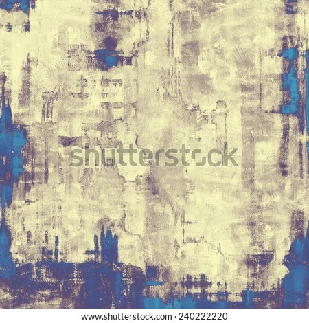 Antique vintage textured background. With different color patterns: blue; cyan; yellow (beige); purple (violet) - stock photo