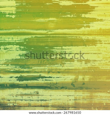 Antique vintage textured background. With different color patterns: yellow (beige); brown; green - stock photo