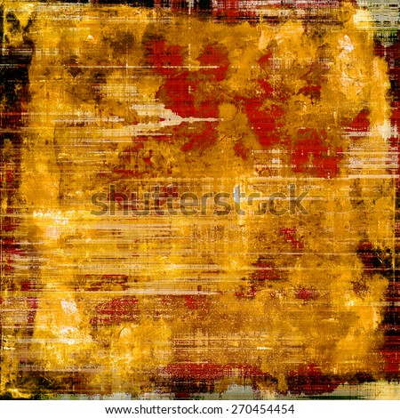 Antique vintage textured background. With different color patterns: yellow (beige); brown; red (orange) - stock photo