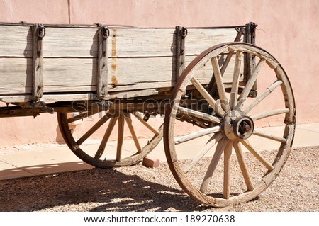 Antique wagon in Tombstone, Arizona - stock photo