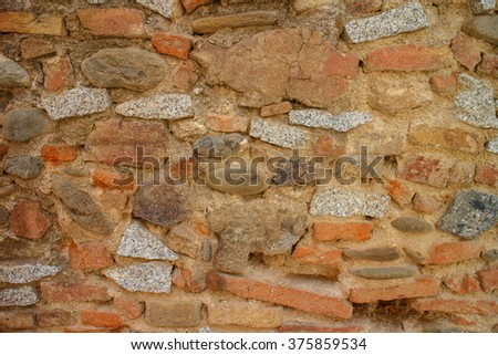 antique wall construction texture as background