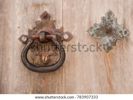 Antique Weathered Door Knock on Historic Mission in San Antonio & Mission Door Stock Images Royalty-Free Images \u0026 Vectors ...
