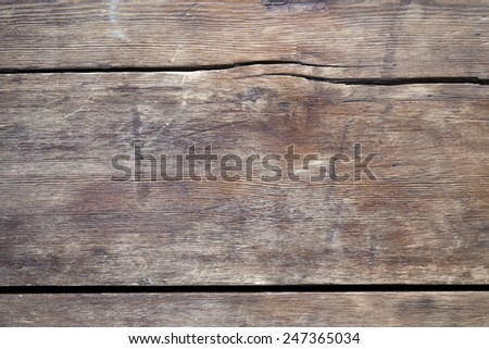 antique weathered wooden table background - stock photo