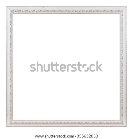 Antique white frame isolated on the white background
