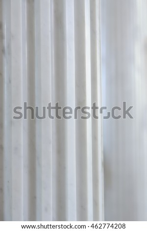 Antique White Marble Fluted Column
