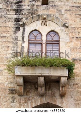 Antique windows - stock photo