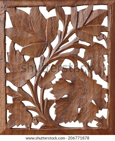 Antique wooden craving - stock photo