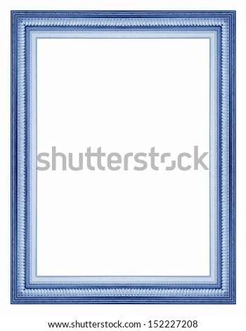 Antique wooden frame with a beautiful color on a white background. - stock photo