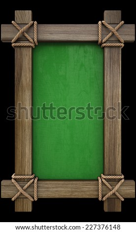 antique wooden menu board. isolated on black. - stock photo