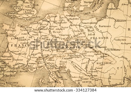 Antique austria hungary map stock images royalty free images antique world map europe gumiabroncs Choice Image