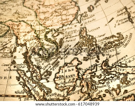 Antique world map southeast asia stock photo royalty free antique world map southeast asia gumiabroncs Image collections