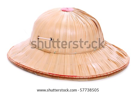 Antiquity helmet for tropical destination. Isolated on white background.