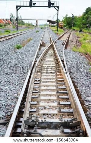 antiquity railway - stock photo