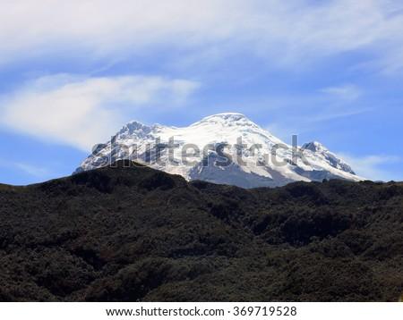 Antisana volcano. National Park Cayambe-Coca Ecuador - stock photo