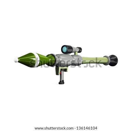 antitank grenade launcher isolated on white - stock photo