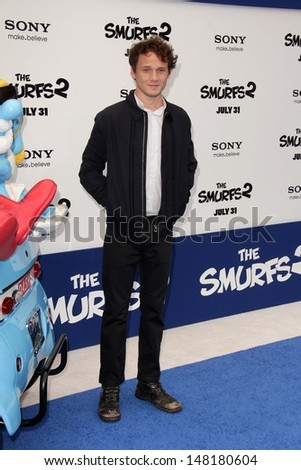 "Anton Yelchin at the ""The Smurfs 2"" Los Angeles Premiere, Village Theater, Westwood, CA 07-28-13"
