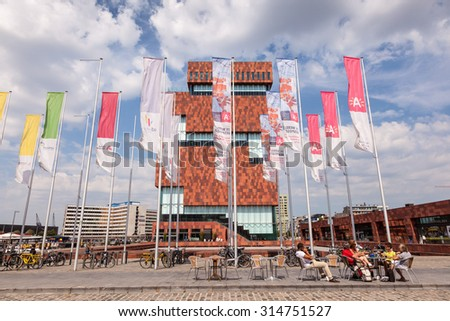 ANTWERP, BELGIUM - AUG 23: The Museum aan de Stroom (MAS; Dutch for Museum at the river) in Antwerp. August 23, 2015 in Antwerp, Belgium