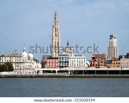 Antwerp, Belgium, city view - stock photo