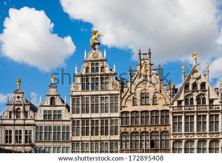 Antwerp Guild houses  - stock photo