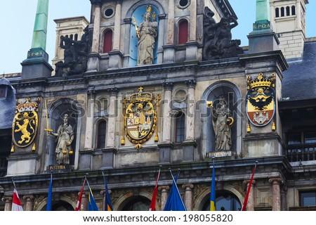 Antwerp's Town Hall - stock photo