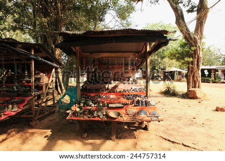 Anuradhapura, old market in ruins, Sri Lanka - stock photo
