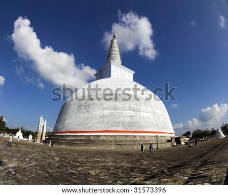 Anuradhapura - Ruwanwelisaya - view of Big Stupa - stock photo