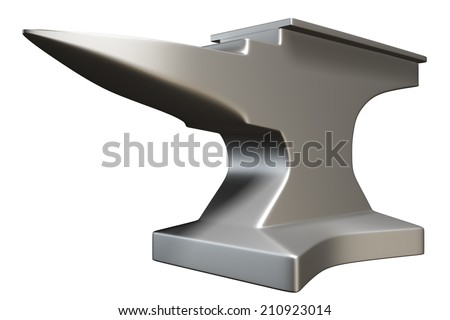 anvil. isolated on white background. 3d