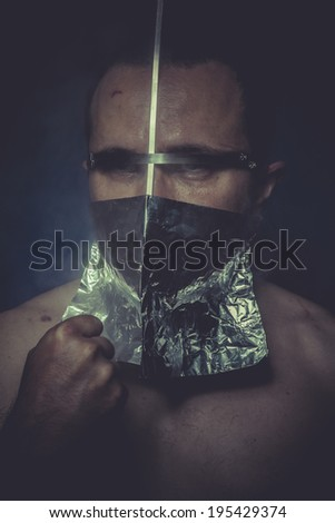 Anxiety, concept of mental disorder, schizophrenia and depression - stock photo