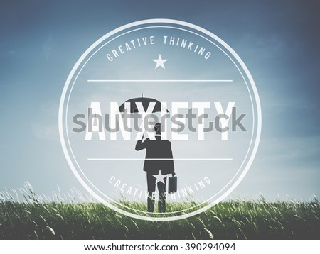 Anxiety Depression Fear Stress Behavior Concept - stock photo
