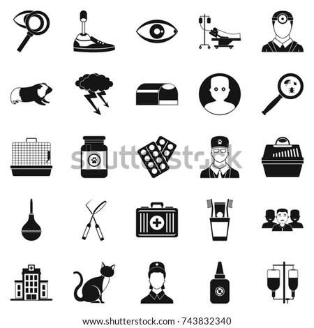 Anxiety Icons Set Simple Set 25 Stock Illustration 743832340