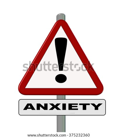 anxiety, road sign - stock photo