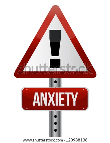 anxiety sign illustration design over a white background - stock photo