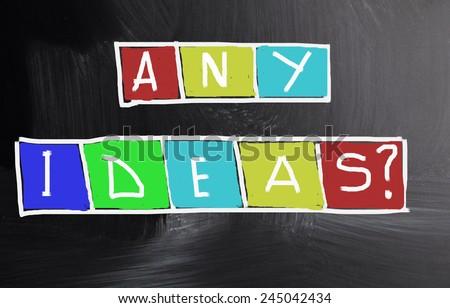 any ideas concept - stock photo